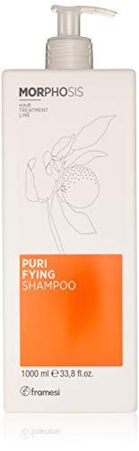 Framesi Morphosis Purifying Shampoo - 33.8 Ounce - Scalp Treatment, Color Safe and Anti Dandruff Shampoo, Vegan, Gluten Free, Cruelty - Shampoo Scalp Purifying