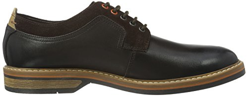 Clarks Stringate Dark Brown Walk Pitney Uomo Leather Scarpe Marrone BtrtwHq
