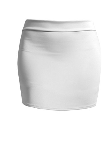 J. LOVNY Women's Double Layered Stretch Bodycon Mini Pencil Skirt Made in ()