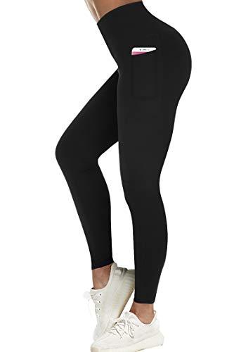 Dames Sportlegging Sportbroek Hoge Taille,Nekgevoeling,met Zijzakken,Yoga Dameslegging Hoge Taille,Leggings Dames…