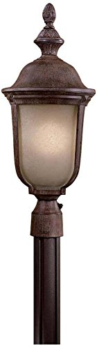 2 Light Outdoor Post Mount, Vintage Rust (Ardmore Outdoor 2 Light)