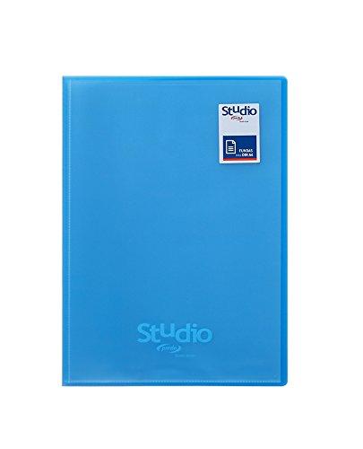 Pardo Studio Style - Carpeta 50 fundas tapas polipropileno, color azul: Amazon.es: Oficina y papelería