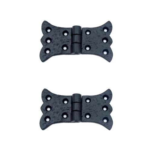 Adonai Hardware Aeneus Antique Iron Butterfly H Cabinet Hinge (Black Powdercoated)- Supplied as 2 Pieces per ()