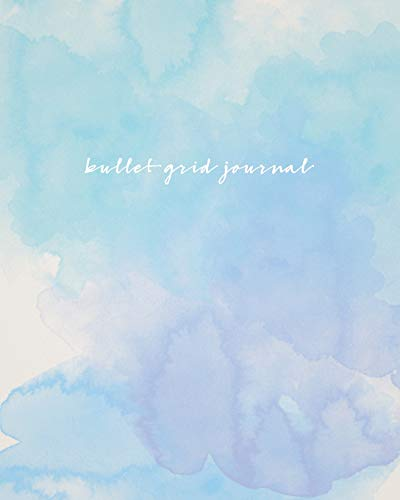 Pdf Crafts Bullet Grid Journal: Watercolor, 150 Dot Grid Pages, 8x10, Professionally Designed