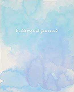 bullet grid journal watercolor 150 dot grid pages 8x10 professionally designed