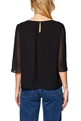 Mujer Collection 001 Esprit black Para Negro Blusa 6fctqp