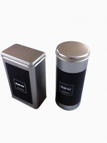 Kaffeedose 2 x Vorratsdose Kaffeepaddose Vorratsbehälter Metalldose Kaffee Box
