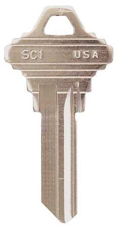 SC-1 Key Blank, Brass, Type 1145, 5 Pin, PK50