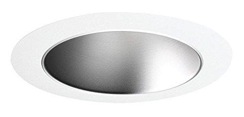 Juno Lighting 447HZ-WH 4-Inch Adjustable Cone Recessed Trim, Haze with White Trim