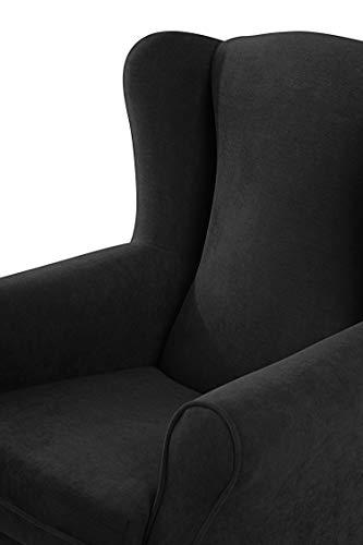 SUENOSZZZ - Sillon orejero balancin Mecedora. Irene (Sillon Lactancia) Sillón tapizado Antimanchas acualine Color Negro. Mecedora para Dormitorio, ...
