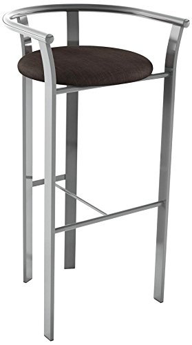 Amisco Lolo Metal Counter Stool, 26-Inch, Magnetite - Amisco Bar Stools