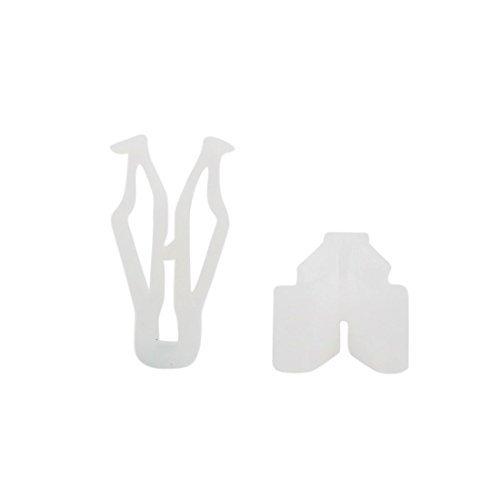 Amazon.com: eDealMax Clips 50 pcs 10 mm diámetro del agujero de plástico Protección Contra salpicaduras de moldeo pegatina Para Auto: Automotive