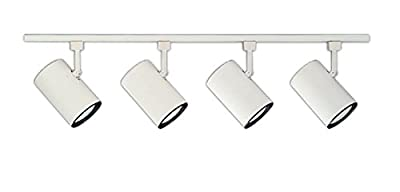 NICOR Lighting 10996WH4HEAD 4' White 4-Light Linear Track Lighting Kit