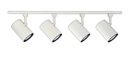 NICOR Lighting 4 Ft.  4-Light 75-Watt Linear Track Lighting Kit, White (10996WH4HEAD) (4' White Track)