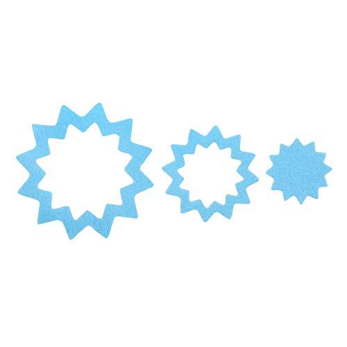 SlipX Solutions Starburst Multi-Piece Adhesive Bath Treads (Blue, 21 Count)