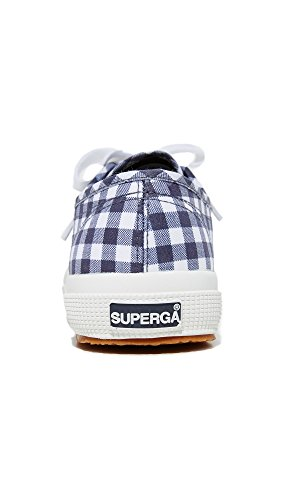 Superga Women's Blue Gingham 2750 Navy Sneaker rrCpqdxSwg