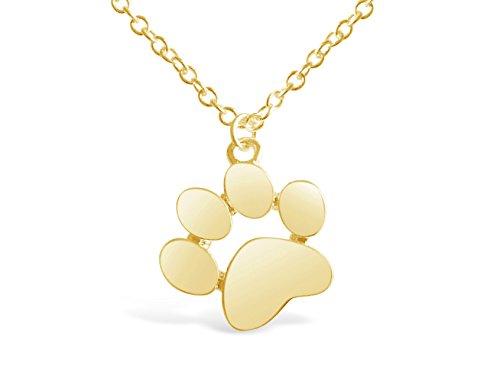 - Rosa Vila Paw Print Necklace, Paw Necklace, Dog Necklace, Dog Jewelry for Women, Dog Paw Necklace, Dog Pendant, Dog Necklaces for Women (Gold Tone)