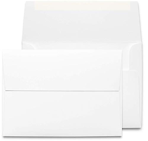 Desktop Publishing Supplies 5x7 Envelopes - 250 Pack - Thick A7 Size (5.25 x 7.25 inch) with Bright White Vellum Finish - For Mailing Greeting Cards, Invitations, Postcards, Photos, Announcements ()