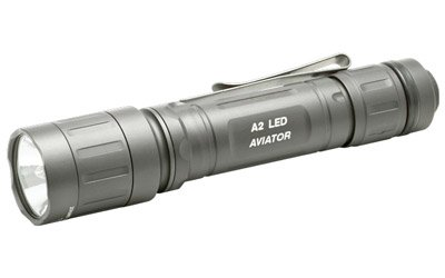 Surefire White Hard Flashlight (Surefire A2 Dual-Output Dual-Spectrum LED Flashlight, White Primary/Red)