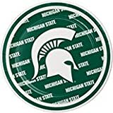 Pack of 96 NCAA Michigan State Spartans Round Tailgate Party Paper Plates 7''