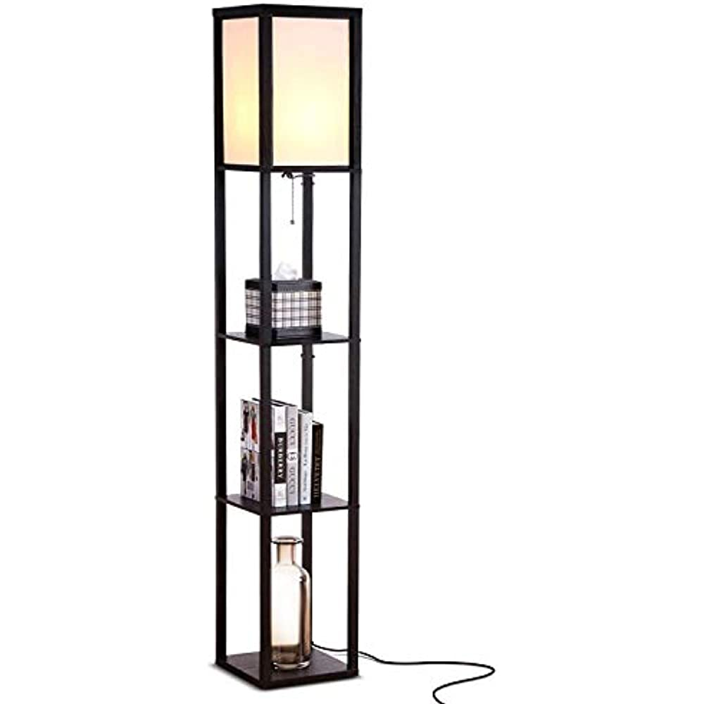 Led Shelf Floor Lamp Modern Standing Light Display Shelves For Living Rooms Bedrooms Home Improvement