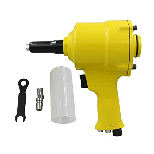 DYNWAVE KP-705P Heavy Duty Roofing Pneumatic Stapler Straight Air Finish Nailer – Yellow