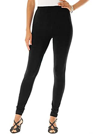 Roamans Women's Plus Size Tall Essential Stretch Knit Ankle Length Leggings