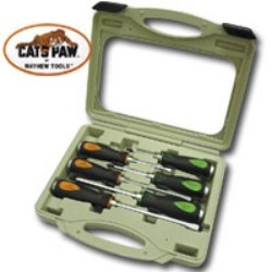 - 6Pc. Capped End Cats Paw Screwdriver Set Screw Driver 6 Pc Set Catspaw W/Bm Case