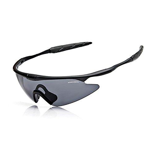 QMFIVE Airsoft X100 A Prueba de Viento A Prueba de Polvo Protección Táctica Gafas Gafas de Motocicleta Lente Transparente para la Ciclismo esquí Tactical al Aire Libre QM009-X100-GY