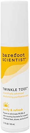 Barefoot Scientist Twinkle Toes Deodorizing Purification Spray, Eliminates Odor-Causing Bacteria
