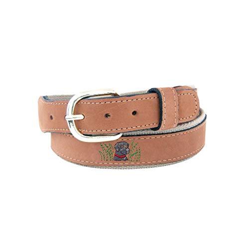 ZEP-PRO Belt Embroidered Labrador Retriever Leather Belt-40