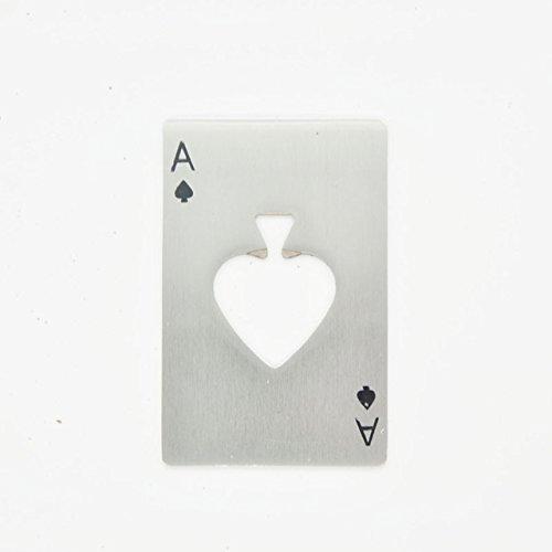Bottle Opener - 1 Piece Creative Poker Card Shaped Stainless Steel Beer Bottle Opener Wine Soda Opener Bar Kitchen Tools