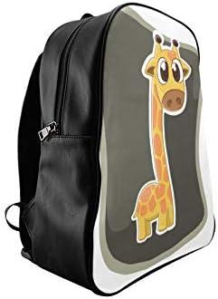 Fascinating Giraffe Animal Girl Backpack College Girls Bag Fashion School Bag Print Zipper Students Unisex Adult Teens Gift