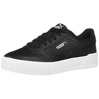 PUMA womens Carina Sneaker, Puma Black-puma White-puma Silver, 8 US