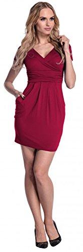 Glamour Empire para mujer Vestido estilo jersey Vestido de corte imperio. 806 Carmesí