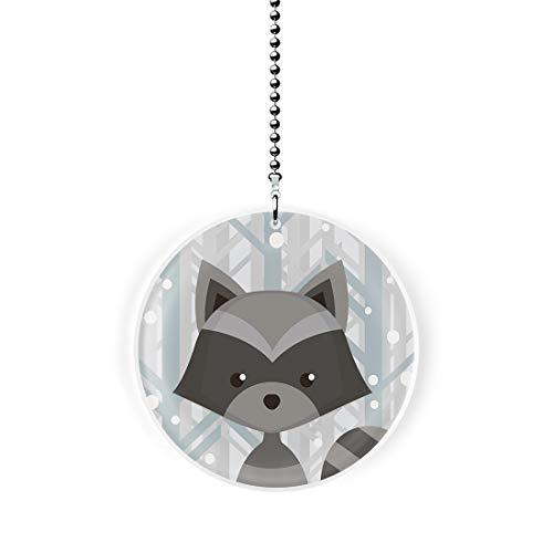 Gotham Decor Winter Woodland Racoon Fan/Light Pull
