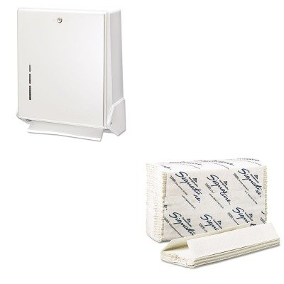 (KITGEP23000SJMT1905WH - Value Kit - Georgia Pacific C-Fold Paper Towels (GEP23000) and San Jamar True Fold Metal Front Cabinet Towel Dispenser (SJMT1905WH))