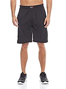 MNX Sportswear Mesh Functional Line Shorts for Men, Black