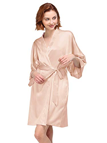 f88e5d2125c8 AW Women's Bride Bridesmaid Kimono Robes Short Dressing Gown for Wedding  Party