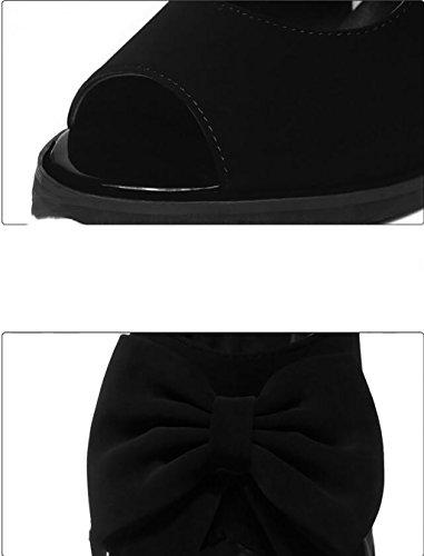 Chaussures mode Épais hauts Sandales A sandales 40 coréen Wild plates nbsp; B talons Couleur à avec de de shoes FAFZ d'été taille Chaussures chaussons sandales bouche Sandales poisson romaines des dPABdw
