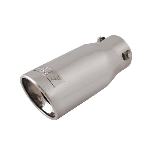 Resonated Bolt (DC Sport EX-1010 Stainless Steel Resonated Slant Cut Bolt-on Exhaust Tip)