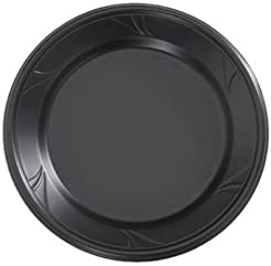 Finesse Black Microwaveable Plastic 10-inch Dinner Plates Made of Polyproplyene 100 Per Box  sc 1 st  Amazon.com & Amazon.com: Black - Plastic / Dinner Plates / Plates: Home \u0026 Kitchen