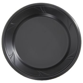 Finesse Kitchen (Finesse Black Microwaveable Plastic 10-inch Dinner Plates, Made of Polyproplyene 100 Per Box)