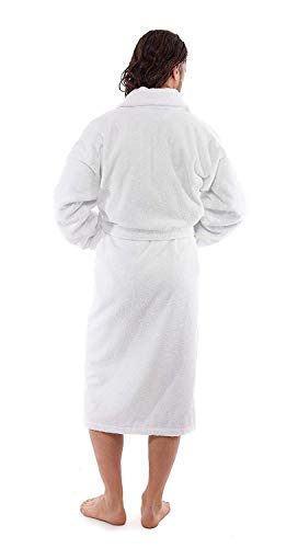 Luxury Terry Cotton Cloth Plush Bathrobe - Premium Cotton Hotel and Spa Robes for Men and Women - Made with 100% Turkish Quality Cotton (XXLarge) by Classic Turkish Towels (Image #3)