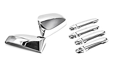 Sizver Chrome Door Mirror+Handle Covers For 2012-2017 Toyota Camry -All models-
