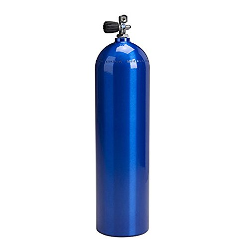 (80cf Alum Scuba Tank, Catalina, Electric Blue )