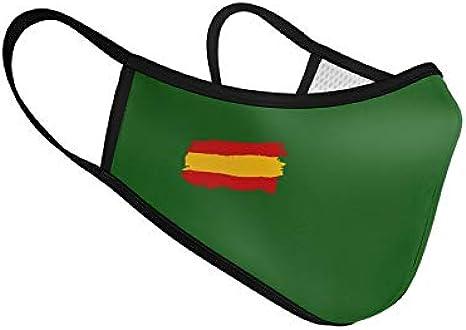 Mascarilla de Tela Homologada Reutilizable Bandera de España - Verde: Amazon.es: Ropa y accesorios