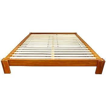 Merveilleux Raku Japanese Style Tatami Platform Bed (Full, Honey Oak)