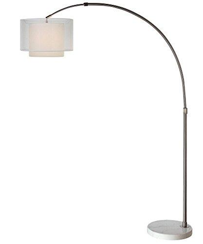 Acclaim Lighting BFA8400 Brella Arc - One Light Floor Lamp, Brushed Nickel Finish with 2-Tier Sheer Snow Shantung Shade (Tier Lamp 2)