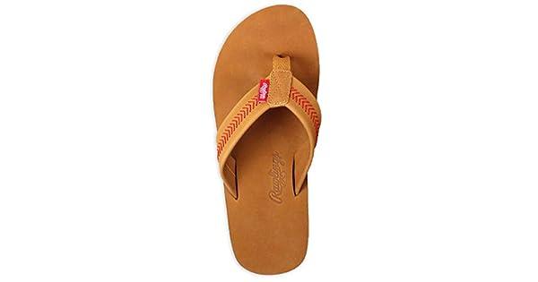 Rawlings Men/'s Baseball Stitch Nubuck Leather Sandals RF50000-204